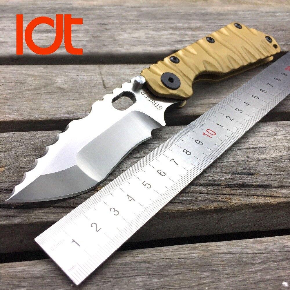 LDT STRIDER Folding Blade Knives SMF D2 Blade Titanium Handle Utility Camping Tools Outdoor Tactical Survival Pocket Knife OEM<br><br>Aliexpress