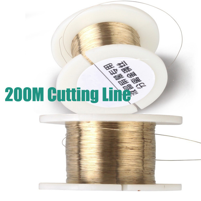 Free shipping 200M Golden Molybdenum Wire Cutting line For Iphone 4/4s/5/Samsung S4/S3 Glass LCD Screen Separator<br><br>Aliexpress