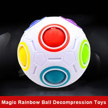 Buy Stress Relief Toy Ball Magic Fidget Cube Toy Plastic Creative Rainbow Football Puzzle Children Learning Educational Toys FL for $4.17 in AliExpress store