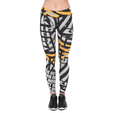 Unique Design Women Legging Work Out Orange Asphalt Printing Leggings Fashion High Waist Woman Fitness Pants(China)