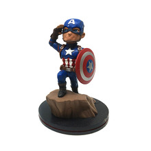 "QMX Marvel Comics Q-Fig Captain America 5"" Loose Vinyl Statue Figure TOY FREE SHIPPING"