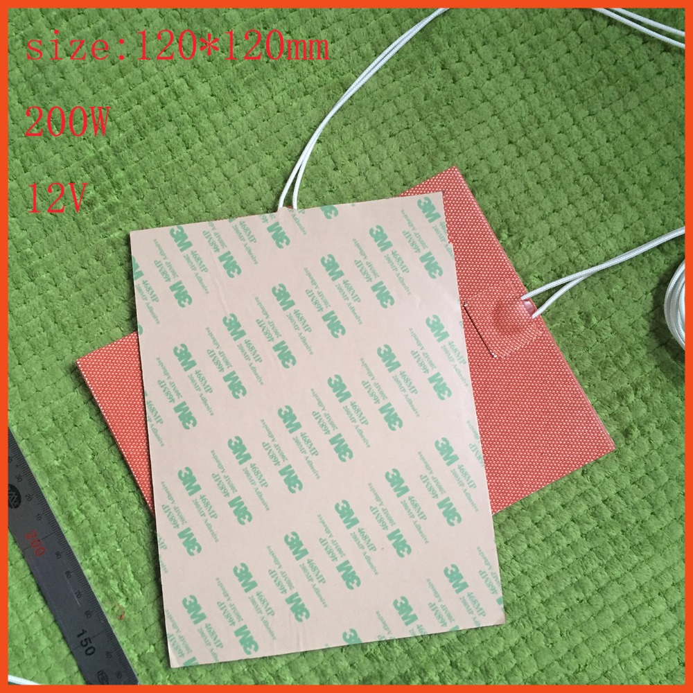 120*120mm  200W 12V ,Round Silicone Heater Pad,3D Printer Heater,Heatbed, Industrial Heater Universal Flexible Silicone Heater<br>