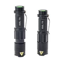 Long Beam Light Cree xml T6 Mini Pocket Led Flashlight Zoomable Adjust Hand Lantern Fill Light for Night Outdoor Camping