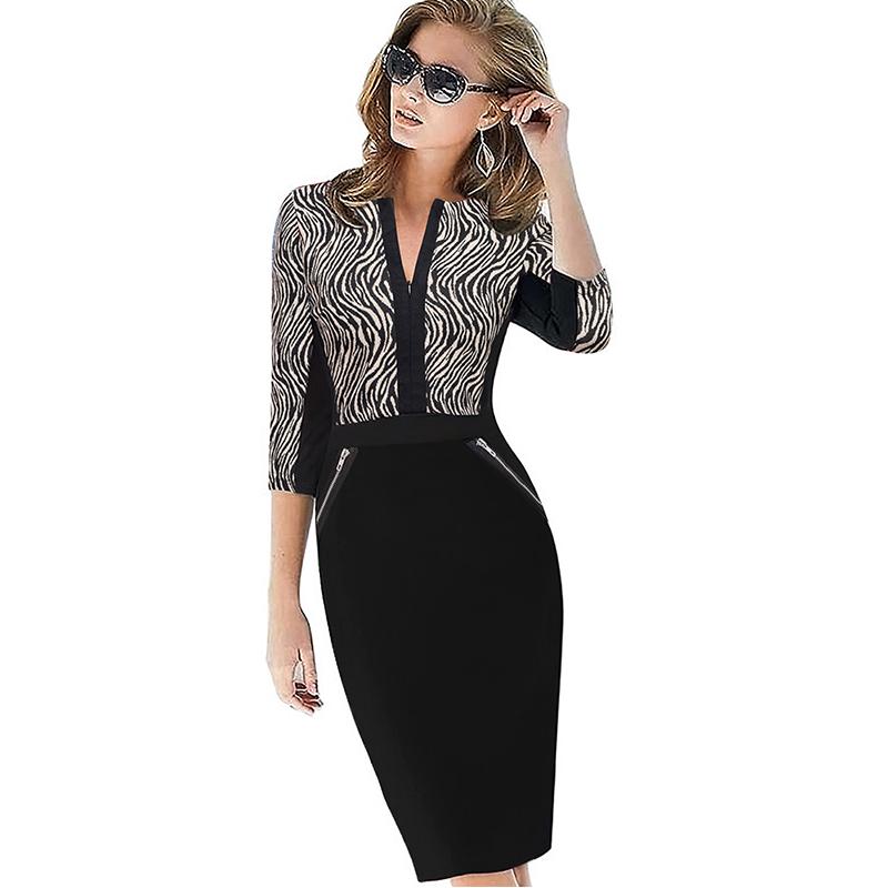 Plus Size Elegant Bodycon Pencil dress 17