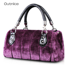 Autumn and Winter Fashion Boston zak Ladies Hand Bags Rabbit Fur Bag luxury Handbags Women Bags Designer Crossbody Shoulder Bag