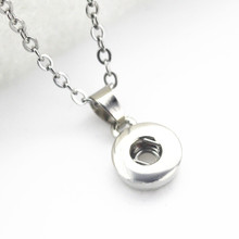 New arrive 10pcs/lot lock snap Necklace pendant with 50cm chain for 18/12mm ginger buttons snap necklace diy jewelry accessories(China)