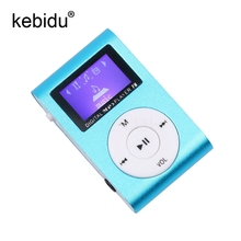 Portable MP3 Music Players Digital LCD Screen Metal Mini Clip MP3 Player with Micro TF/SD Slot with Earphone and USB Cable(China)