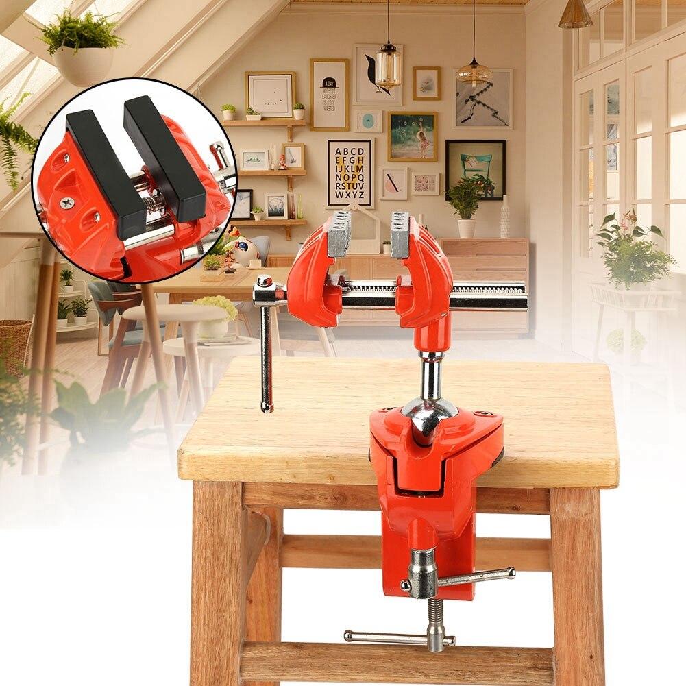 Mini abrazadera giratoria de 360 /° Abrazadera de mesa de 70 mm de ancho de mordaza ajustable Abrazadera de mesa for banco de trabajo Carpinter/ía Abrazadera de tornillo