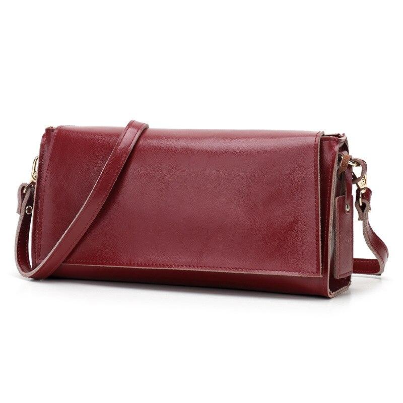 Women Vintage Geniune Leather Crossbody Bag Female Real Cowhide Leather Baguette Shoulder Bags Designer Long Purses And Handbags<br><br>Aliexpress