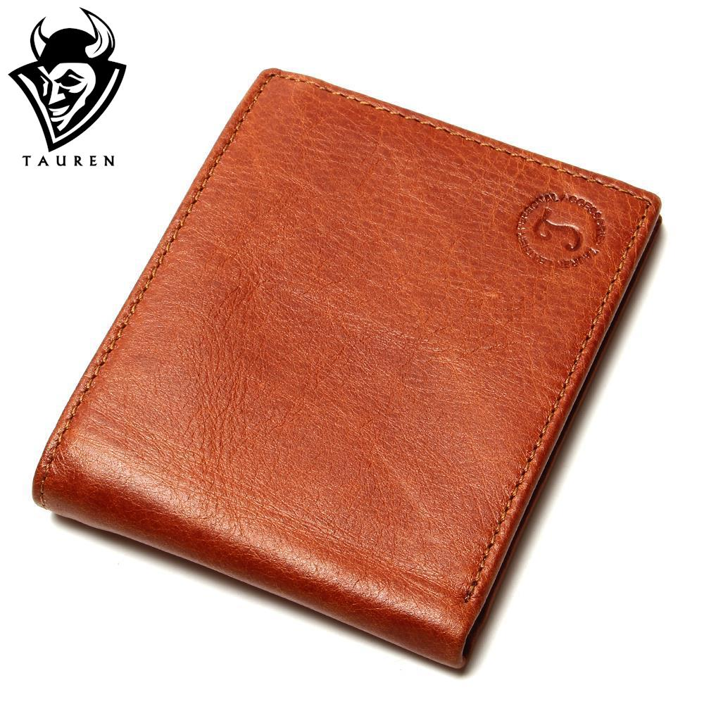 TAUREN High Quality Oil Wax Leather Standard Wallets Men Wallet Cowhide Real Leather Brand Design Coin Bag Card Travel Purse<br><br>Aliexpress
