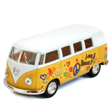 1:32 Diecast & Toy Vehicles,Volkswagen Bus Toy, VW Bus Metal Car Toys Model, Brinquedos, Miniature Pull Back, Doors Openable Bus