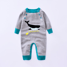 2017 Retail Fashion Knitting cartoon Baby Romper Clothing Body Suit Newborn Long Sleeve Kids Boys Girls Rompers Baby Clothes(China)