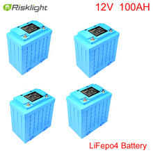 Deep Cycle Rechargeable 12V 100Ah LiFePO4 Battery Pack for Solar Lights, EV,electric bike(China)