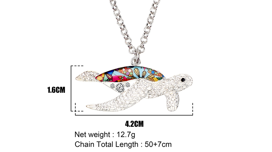Turtle Shell Necklace Sizes