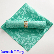 Tiffany Colour Table Napkin Jacquard Damask Wedding Totel Home Party Restaurant Wrinkle Stain Resistant Wholesale