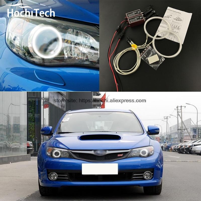 HochiTech WHITE 6000K CCFL Headlight Halo Angel Demon Eyes Kit angel eyes light for Subaru Impreza WRX STI 2007 2008 09 10 2011<br><br>Aliexpress