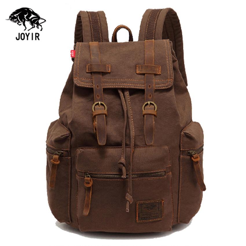 Vintage Casual Canvas Backpack Men Rucksacks Women Bagpack Laptop Backpacks Satchel Bag Travel School Bag Unisex Mochilas 2017<br>