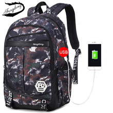 Fengdong Brand New Men Camouflage Backpack Boys Light Schoolbag Korean Oxford Protection Water Backpack Camuflaje Mochila