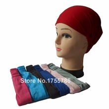 2pcs/lot Solid Color Women's Multi-function Head Scarf Bandana Elastic 3 in 1 Headband Wrap Wristband Hair Plain Bands
