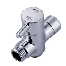 G1/2 Brass Valve Core Solid T-adapter for Bidet Sprayer Shower Set Shaffat Jet diverter valve Chrome Shower Water Separator(China)