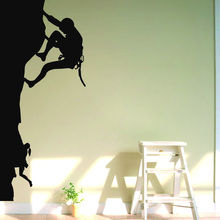 Mountain Climbing Wall Sticker Sports Wall Decal DIY Decorating Vinyl Wall Art Rock Climbing Wall Art Decals Climbing Cut Vinyl(China)