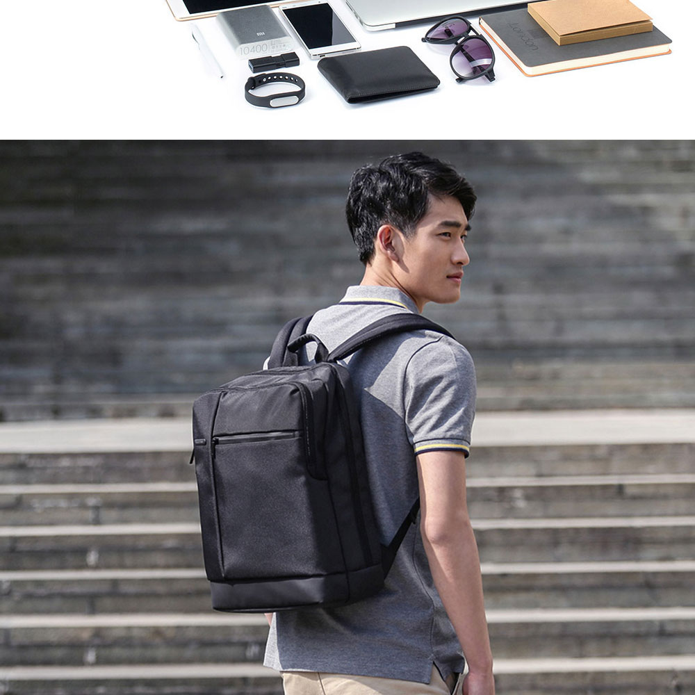 Original Xiaomi Backpack Classic Business Backpacks 17L Capacity Students  Laptop  Men Women Bag  For 15-inch Laptop OK (8)