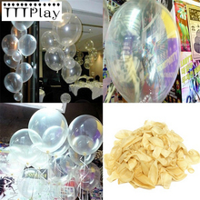Buy 20pcs/lot 12inch 2.8g Clear Latex Balloon Transparent Balloon Wedding Decoration Party Balloon Happy Birthday Party Supplies for $3.14 in AliExpress store