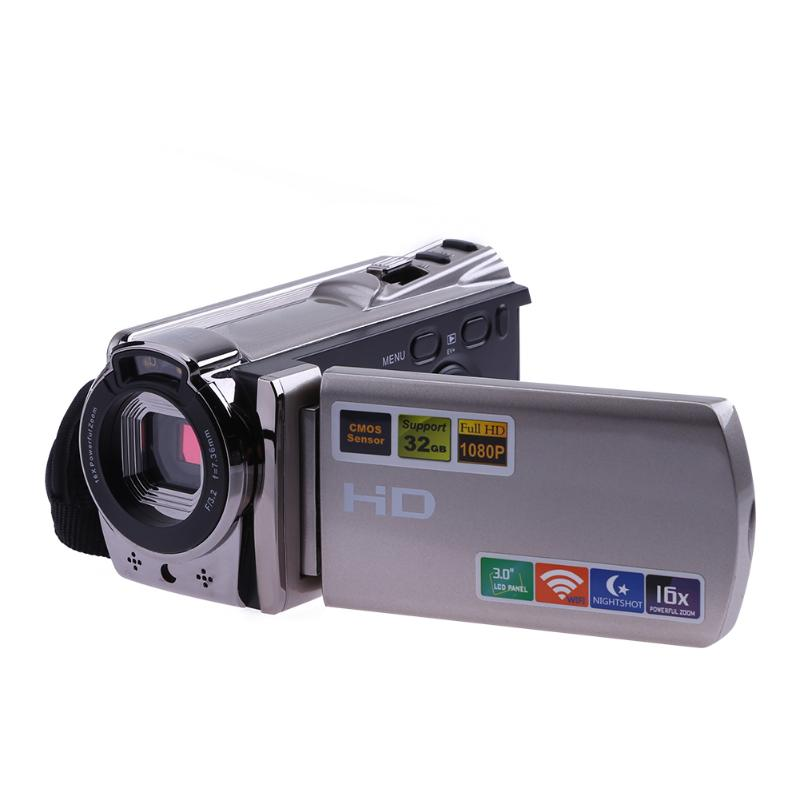 Wi-Fi Digital Camera HD 1080P Video Camera Camcorder Night Vision 8MP 16X Zoom COMS Sensor 3 inch TFT LCD Screen Wireless Camera 8