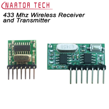 433 Mhz Wireless Receiver and Transmitter RC 1527 Decoding Module 4 Ch output With Learning Button Free Shipping