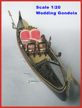 NIDALE model Classic Venice yacht model Scale 1/20 Wedding Gondola wooden model kit gondola dating boat(China)