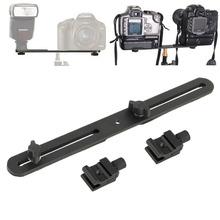 Universal Double End Light Stand Holder Flash Bracket Mount Tripod with 2 Hot Shoe Adapter Screws For Digital SLR Camera NEW