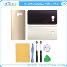 New Replacement For Samsung Galaxy Note 5 N920 N9200 Back Glass Cover Rear Battery Door Housing With Adhesive+Tools