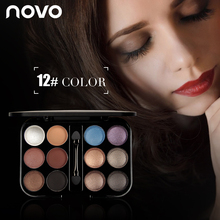 12 Color/set Nude Eyeshadow Palette Makeup Naked Smoky Shimmer Eye Shadow Palette Set Pigment Kyli Eyeshadow With Brush & Mirror