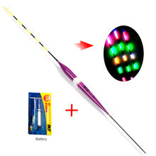 New Led Electronic Fishing Float with Battery Night Floats Balsa Wood Night Vision Electric Float Fishing Tackle Luminous Float