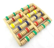 1pc foot healthy care wooden foot massager   6 Rows Wheelw Wooden Massager #500