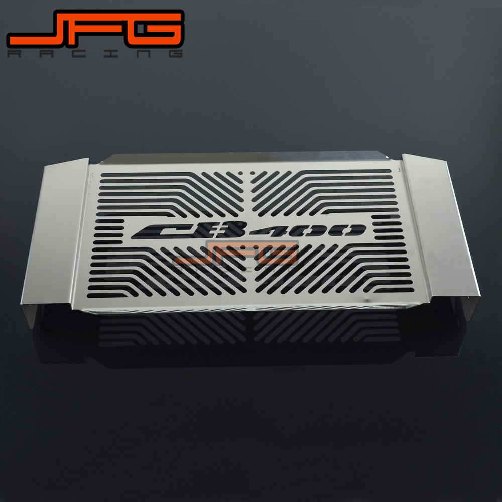 Motorcycle New Stainless Steel Radiator Guard Cover Grille Grill Protector For HONDA CB 400 CB400 VTEC 1999-2012