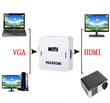 HDMI switch Audio+VGA TO HDMI Adapter Video Converter cable Built-in Chipset 1080P VGA to HDMI for PC laptop to HDTV Projector(China)