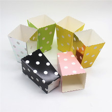 12pcs/Lot Wedding Decor Mini Popcorn Boxes Polka Dot Candy Buffet Favor Party Paper Bags Movie Home Baby Shower Supplies(China)