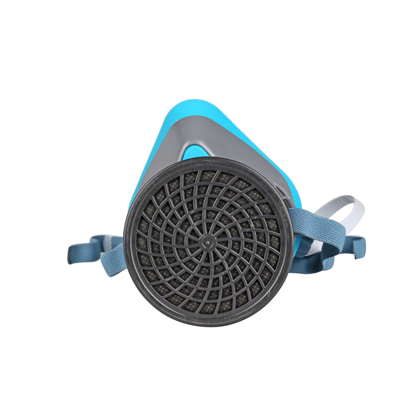 RESPIRATOR gas mask self-priming blue Silicone carbon filter mask pesticides spraying boxe industrial safety respiration mask<br><br>Aliexpress