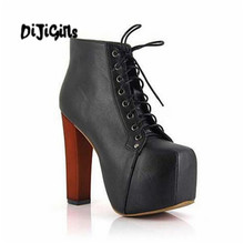Free shipping! Women 4 Colors High Heel Lace Up Fashion Short Boots Shoe Designer Boots 35-40
