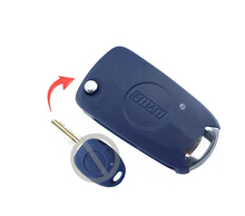 NEW Replacement Shell Modified Folding Flip Remote Key Case Side 1 Button for Fiat Blue