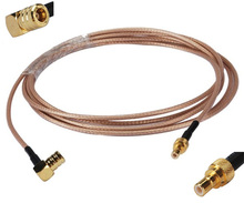 Radio Extension Cable SMB Male To Female Right Angle Pigtail Cable For XM Sirius RG316 25FT(China)