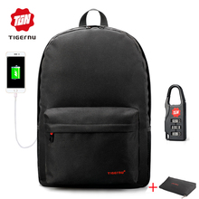 2017 Summer Tigernu USB charging School Backpack youth backpack for women male Laptop Bagpack School Bag for teenagers+Free Gift(China)