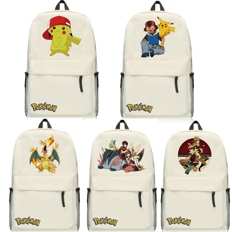 New Fashion Unisex Pokemon Pikachu Cosplay Backpack Cartoon Travel Shoulders Bag Pocket Monster Schoolbags Mochila Rucksack <br>