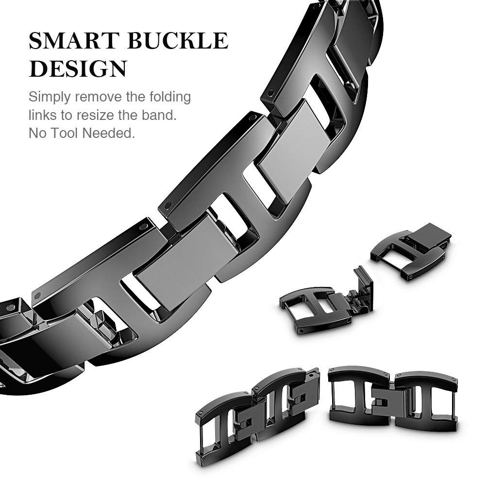 Apple Watch Bling Diamond Band 38Mm 40Mm 42Mm 44Mm Luxury Stainless Steel Link Strap For Iwatch Series 3 2 1