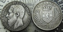 1887,1891,1894,1896 CONGO FREE STATE 2 FRANCS COINS COPY FREE SHIPPING(China)
