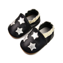Fashion Genuine Leather Baby Moccasins Soft Sole Newborn Baby Shoes for Boys Girls 0-24M(China)