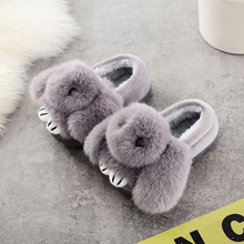 UNINICE Baby Girls Cartoon Bear Slippers Kids Household Cotton Slippers Shoes 2017 New Autumn Winter Toddler Girls Warm Shoes(China)
