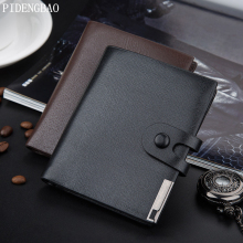 PIDENGBAO men wallets famous brand mens wallet Patent leather purse card cash Splicing Lock holder bifold wallet purse pocket