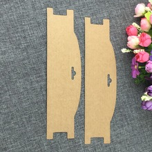 New Kraft Accessory Cards Hair Clip band Card Jewelry Display Card Hair  Blank Hairpin Packaging Card Accept Custom Logo